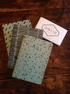 Cotton and Flax mini-notebooks!