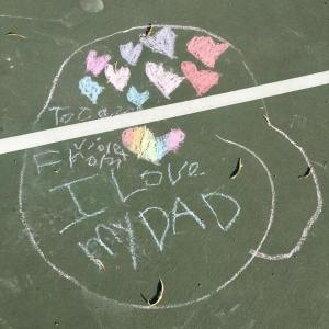 i-love-dad-in-chalk